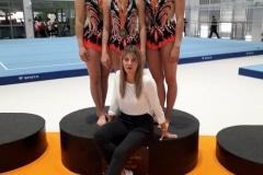 Katarzyna Pszczółkowska, Monika Siwołowska, Nicola Hyżyk, trenerka Natalia Piróg