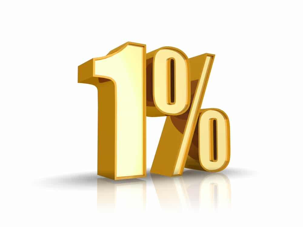 jeden procent żółty